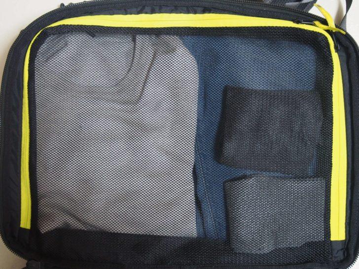 Incase「EO TRAVEL BACKPACK」のメイン収納部に荷物入れてみた