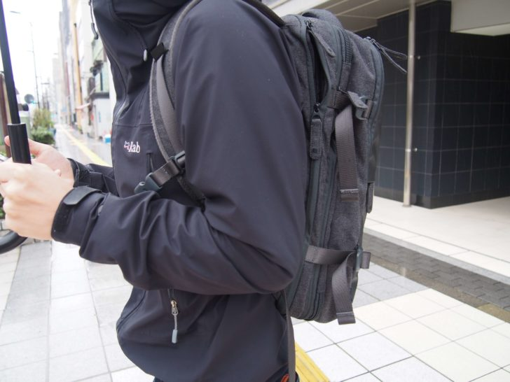 INCASEのEO TRAVEL BACKPACKもういっちょ横から