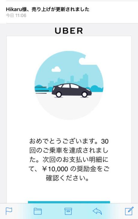 Uber Eats配達30回達成!