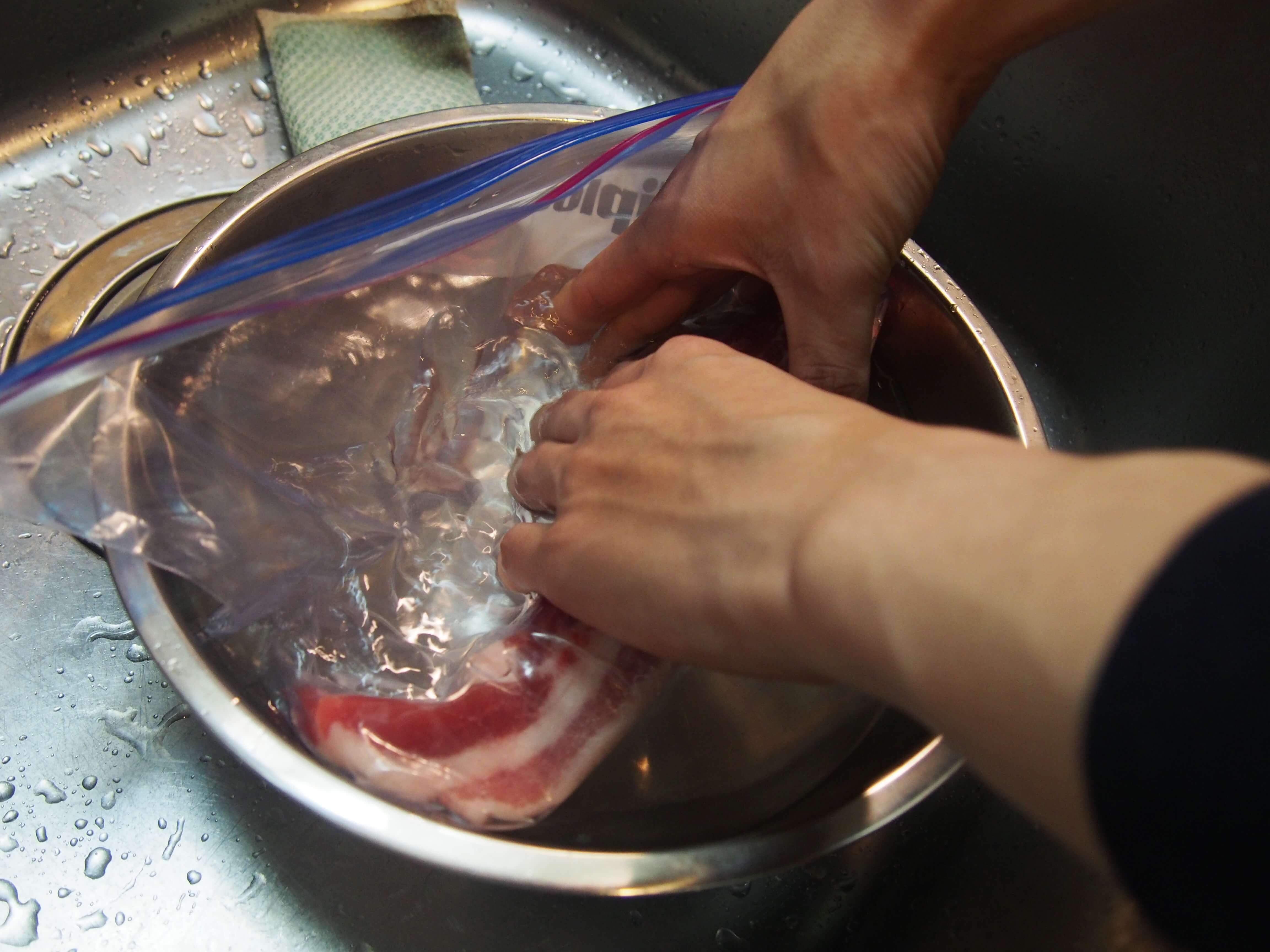 低温調理用の豚バラ10