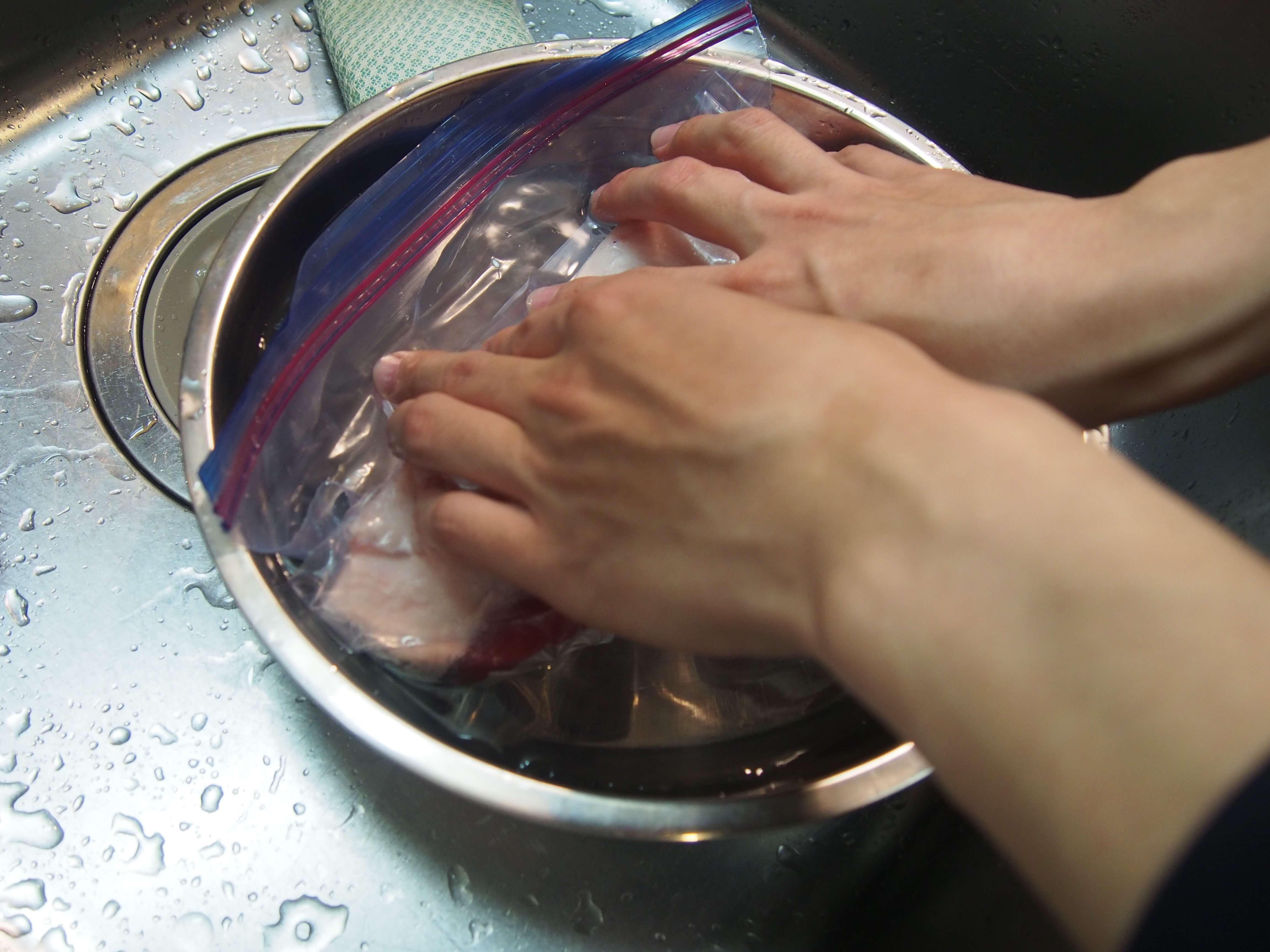 低温調理用の豚バラ14