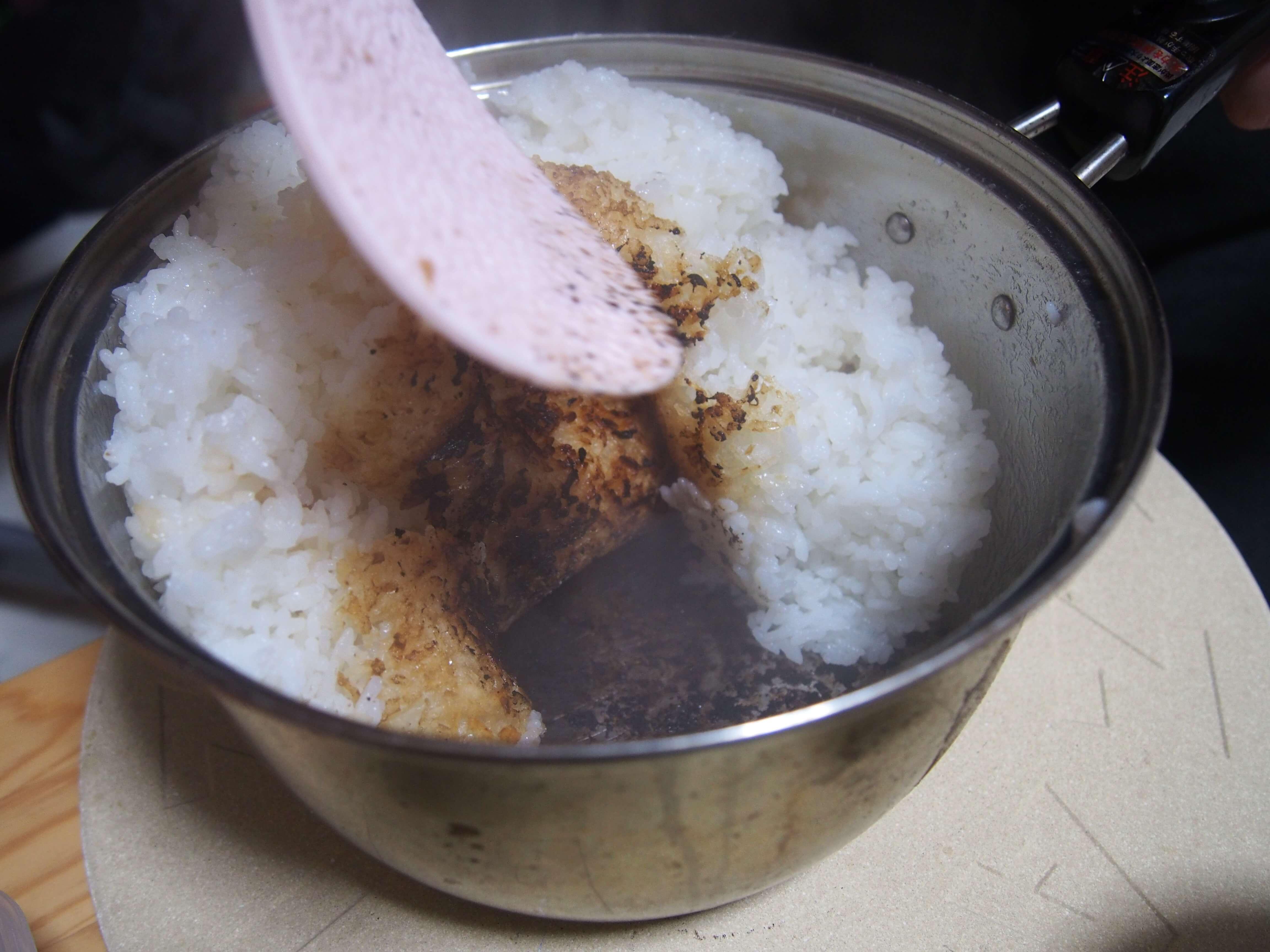 鍋でご飯を炊く12