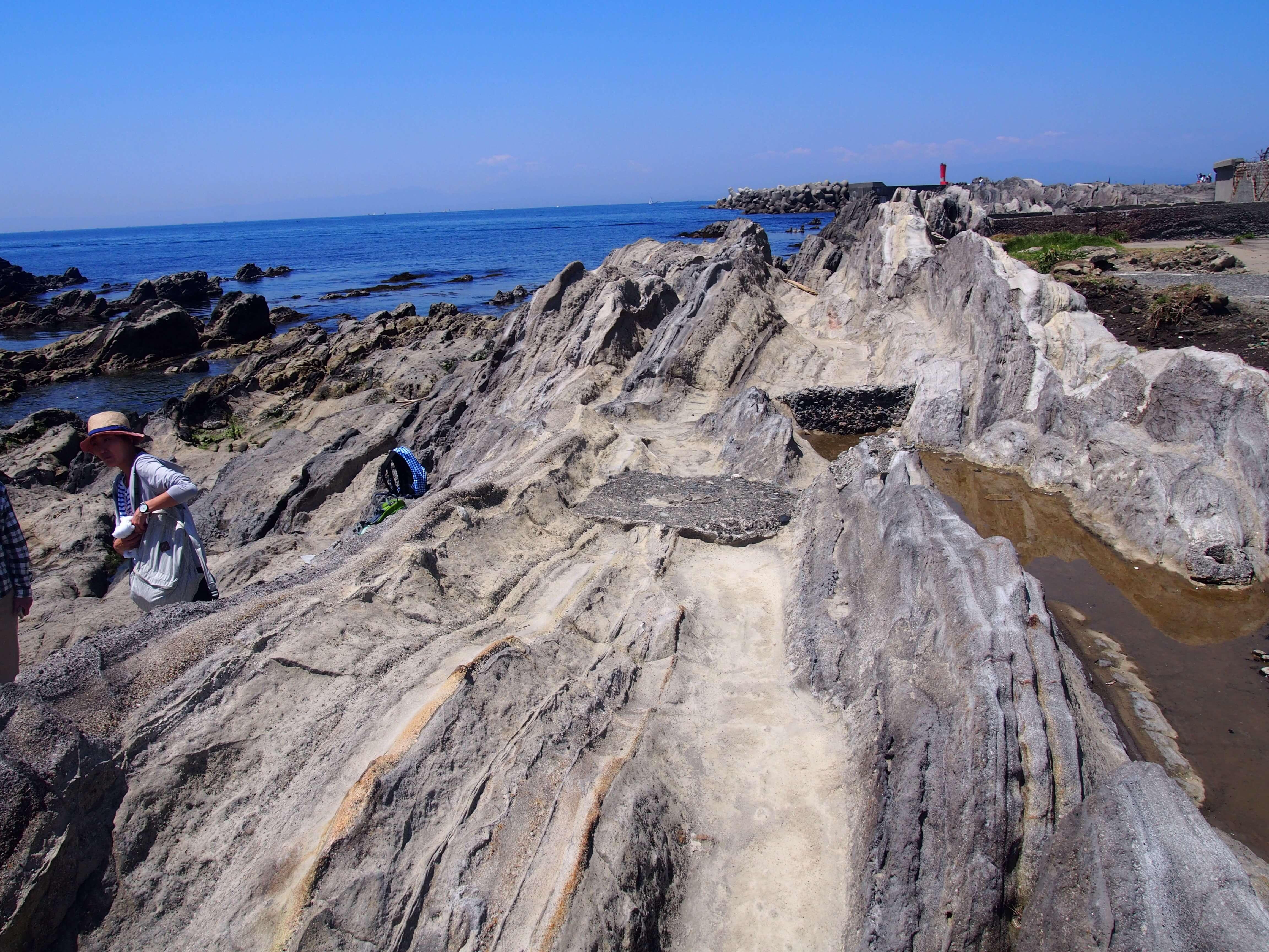 城ヶ島の釣りスポットはゴツゴツした岩場