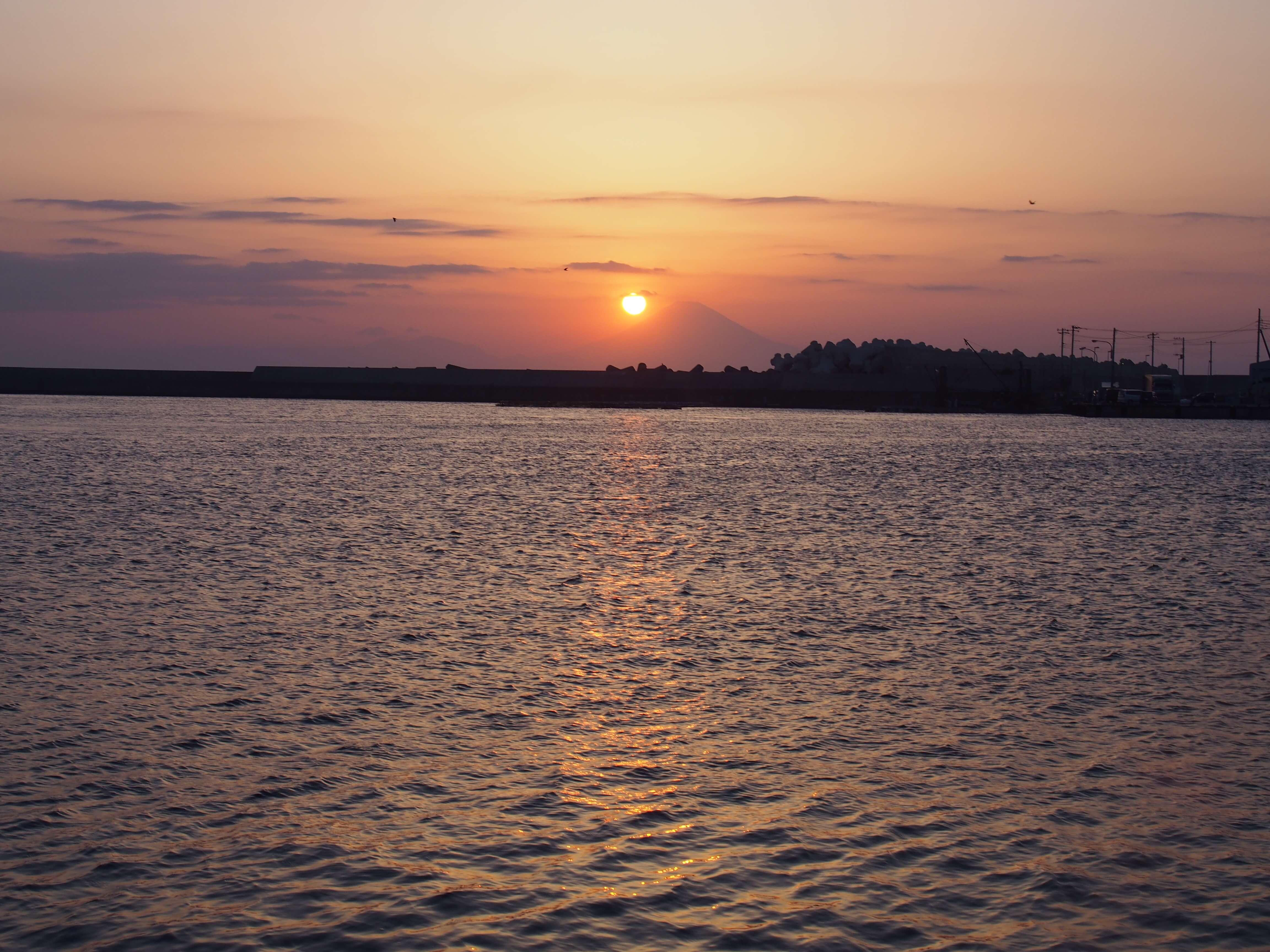 三崎の夕暮れはとても綺麗だった