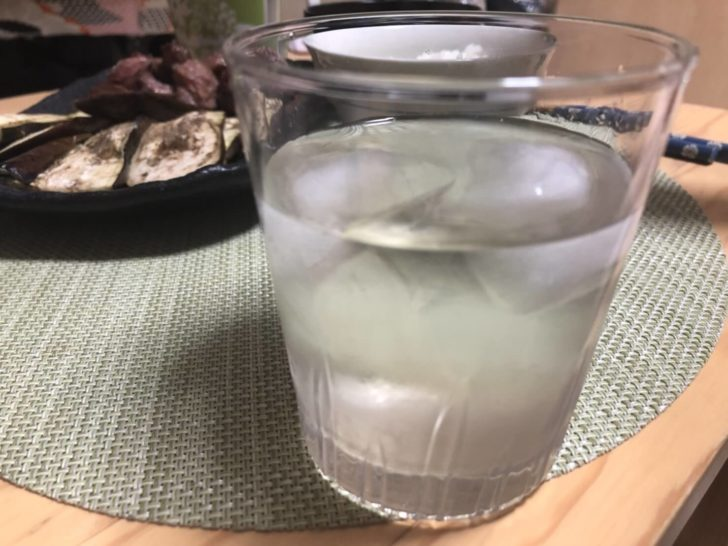 水で割ったら梅ジュースの完成