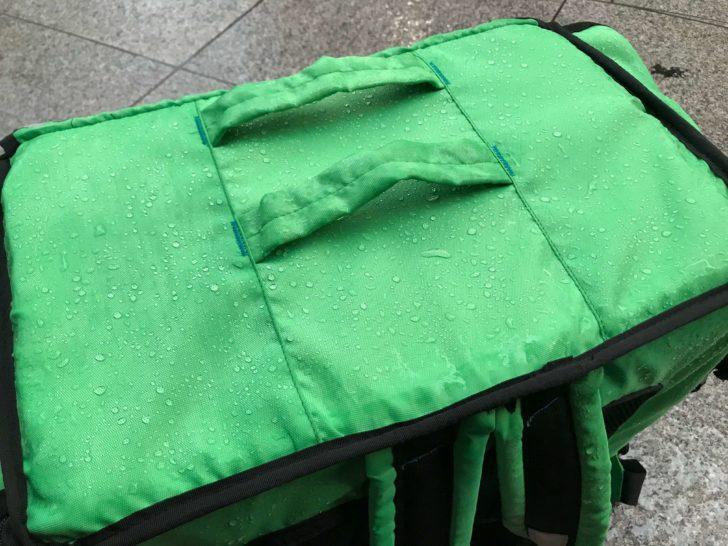 緑バッグの耐水性