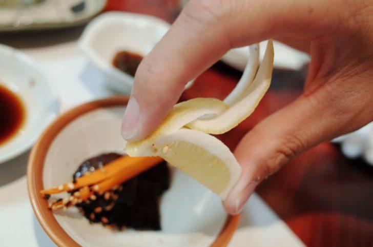 飾り包丁の柑橘