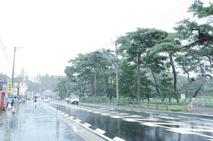 せっかくの松島は豪雨