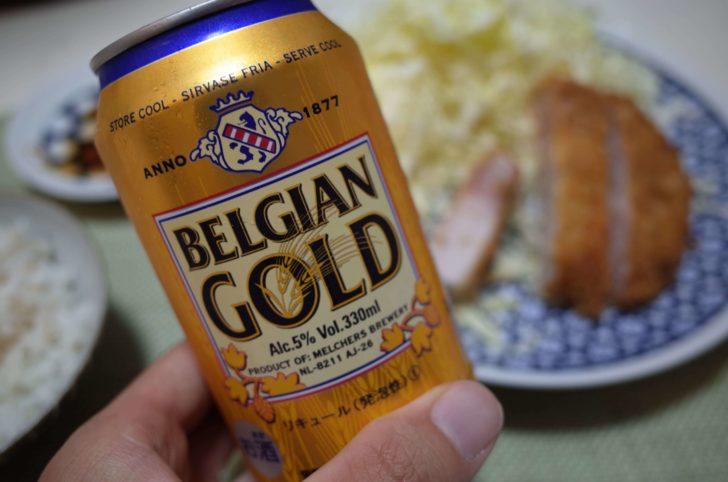 とんかつとビールの相性は抜群ですね