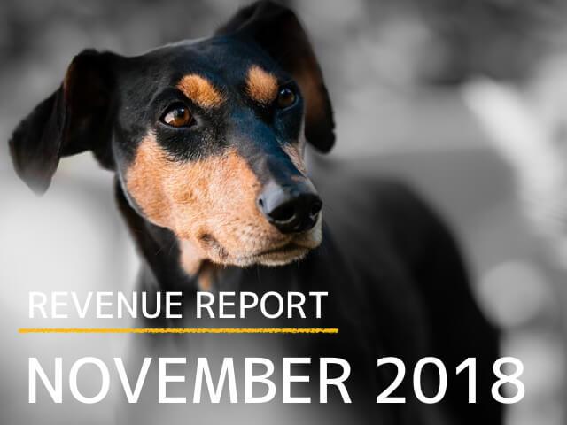 《REVENUE REPORT》2018年11月とうとう月間3万PVを超えました